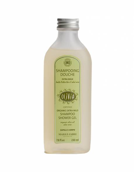 Certified organic extra mild shampoo & shower gel, with olive oil 230 ml