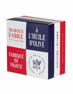 Marius Fabre x Elysée Coffret 4 Savons de Marseille à l'huile d'olive 200g