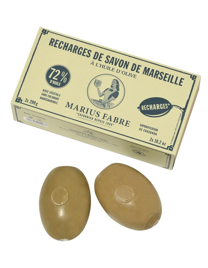 Box Of 2 Refills For Wall Mounted Marseille Soap