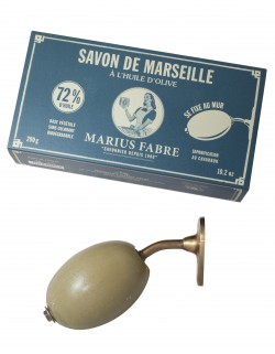 Wall-mount rotating Marseilles soap holder