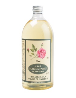 Marseilles liquid soap, wildrose fragrance, 1 l