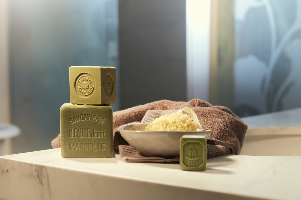 Marseille soap in the bathroom
